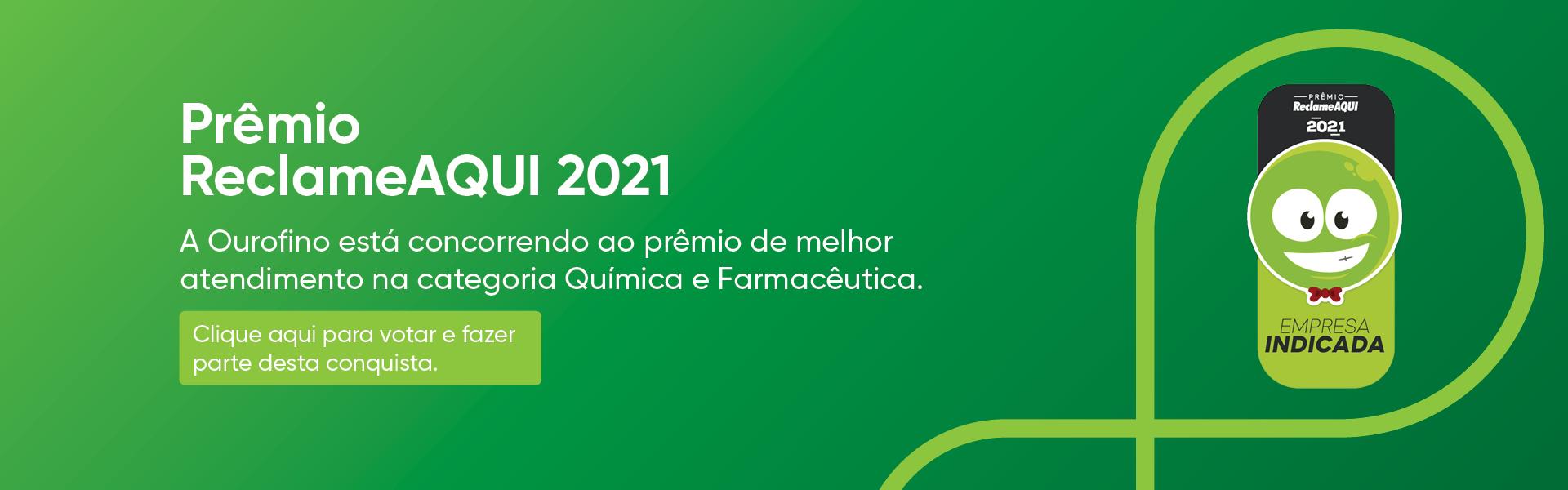 Vote na Ourofino no Premio Reclame AQUI 2021